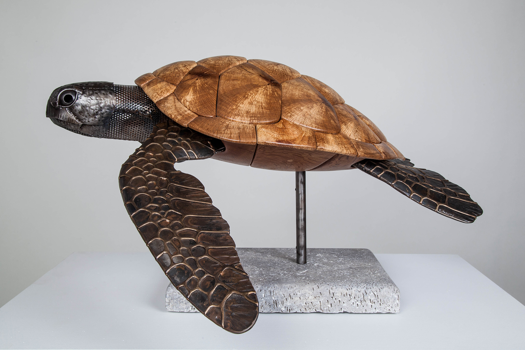 sea turtle sculpture artist