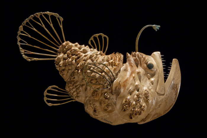 deep sea fish sculptures