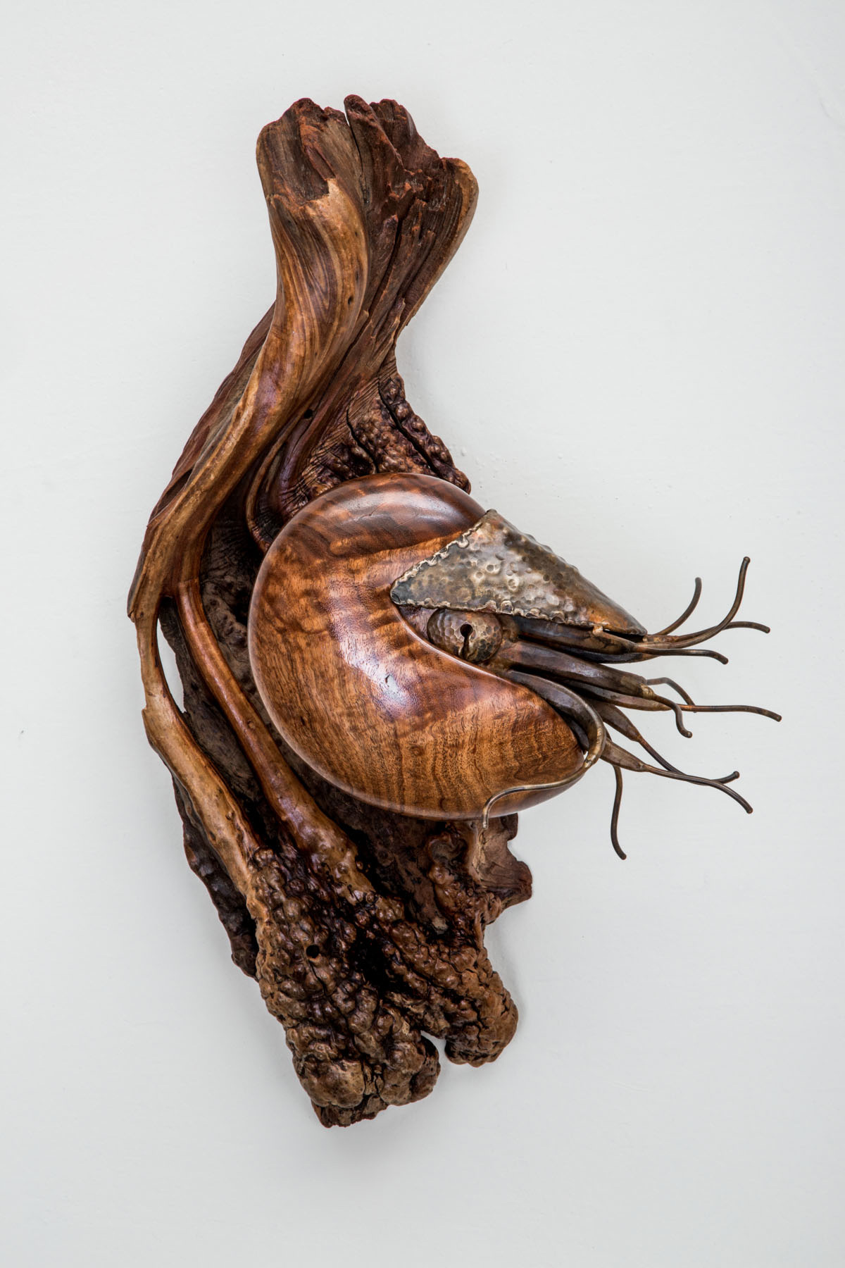 wood and metal sculpture for sale