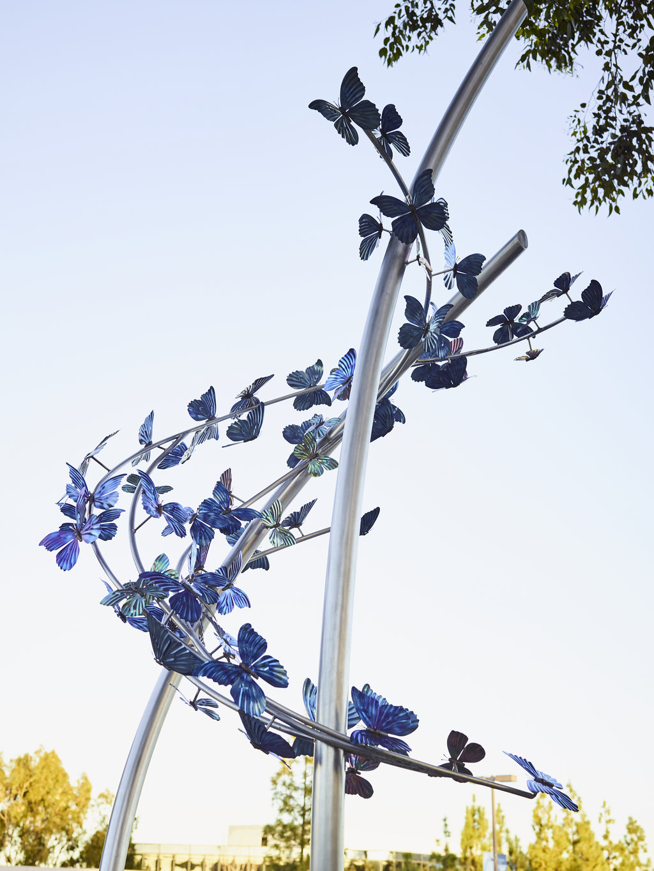 outdoor butterfly sculpture